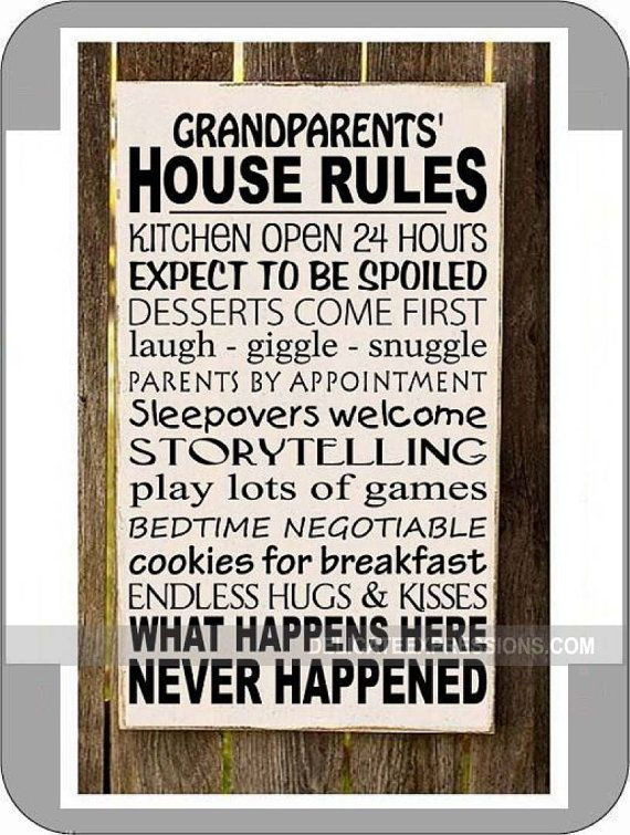 Grandparents House Rules Gifts For Grandparents Gift For
