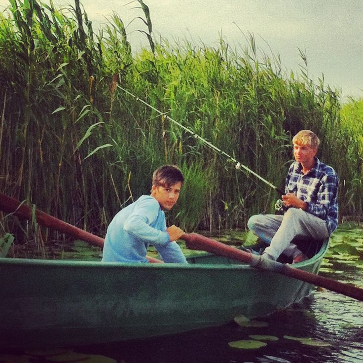 Teenagers fishing in Letea village, Tulcea - Danube delta (no wifi anywhere near), aka local Tom Sawyer and Huckleberry Finn.