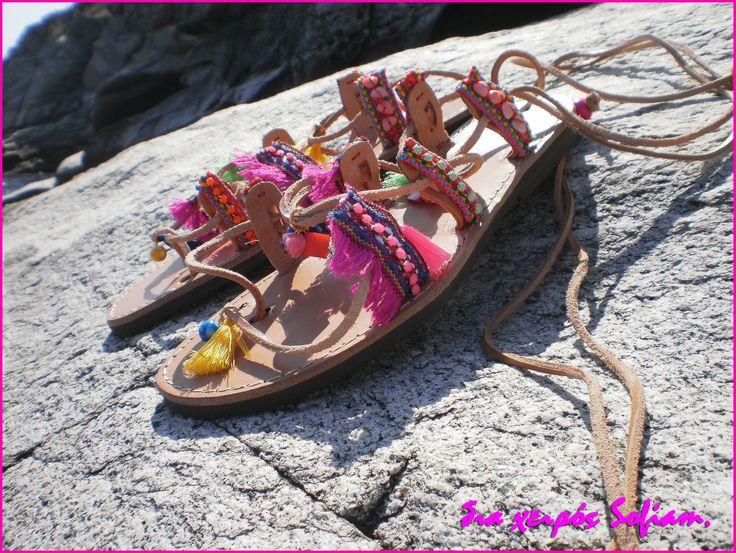 SaS029 bohemian sandals pink