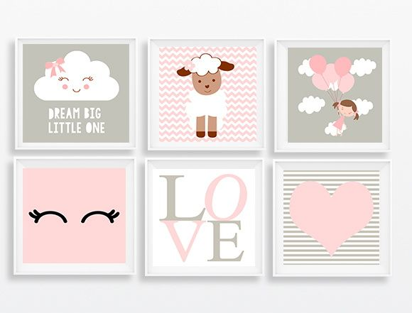 AMAMOS criar fofuras!    Linda composição de artes personalizadas para a decoração do quarto ou ainda outros ambientes infantis.    O kit é composto por :  Seis molduras na medida 20x20  Seis Imagens fofas e personalizadas à sua escolha.    --------  Características do produto:    Moldura:    São...
