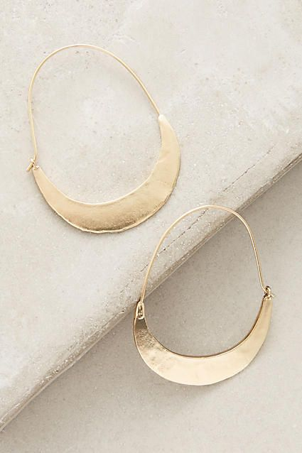 Crescent Hoops - anthropologie.com