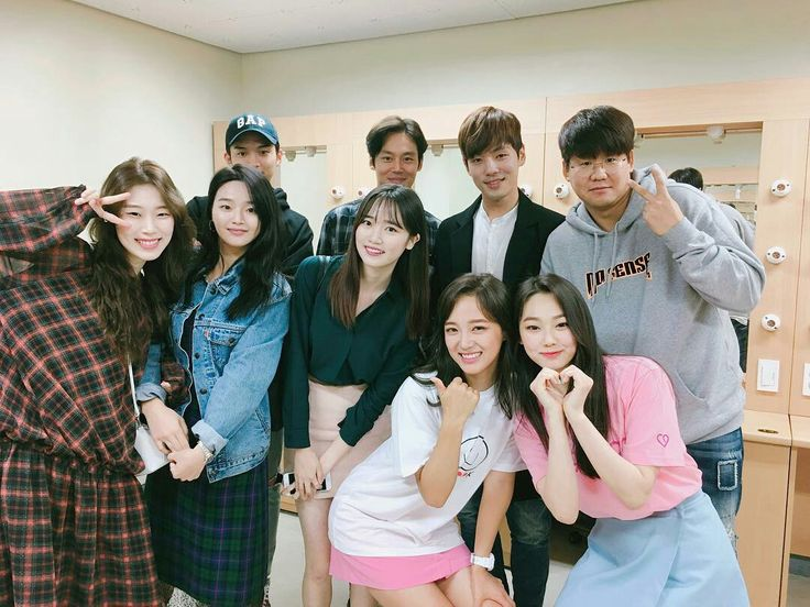 School 2017 cast attending gugudan's first fans meeting to support Kim Se Jeong