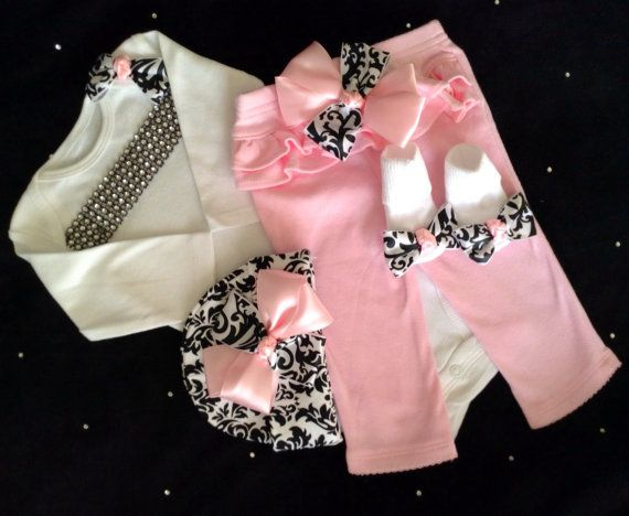Hey, I found this really awesome Etsy listing at https://www.etsy.com/listing/176050362/newborn-baby-girl-take-home-outfit-pink