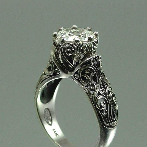 white sapphire ring: In Love, Vintage Wedding, Gold Engagement Rings, Diamonds, Vintage Rings, White Sapphire, Wedding Rings, Dreams Rings, Princesses