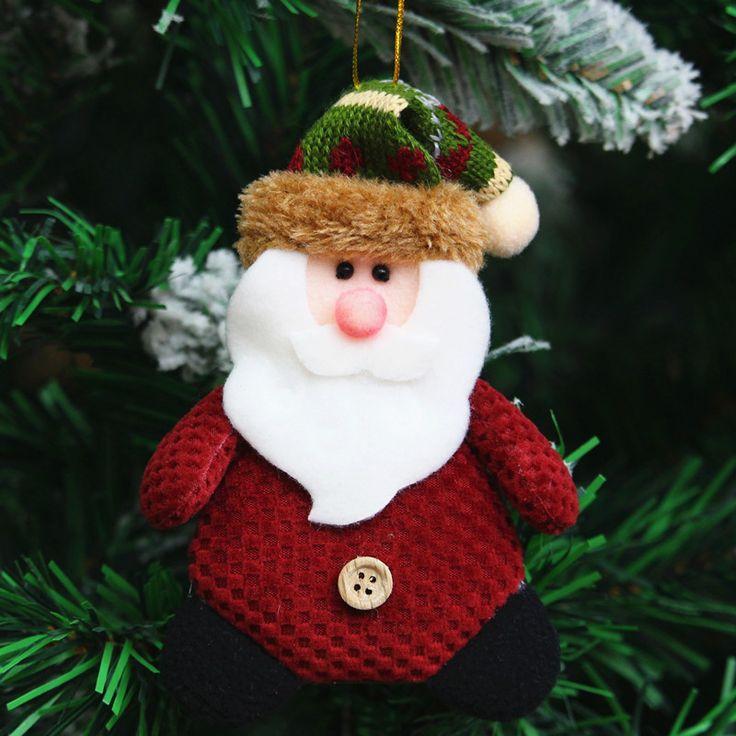 3 шт./лот Новогоднее Украшение Поставляет Лося Снеговик Подвеска Для Рождественских Дерева Рождественский Подарок Дед мороз Рождественская Елка Орнамент купить на AliExpress