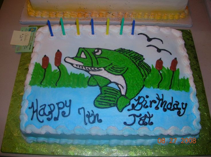 8 Best Cakes Images On Pinterest Fishing Cakes Bass Fishing And