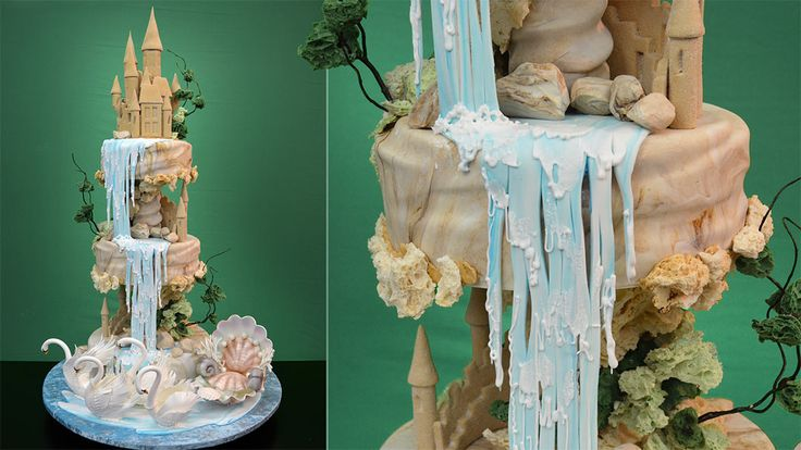 New Tutorial: Assembling a Waterfall Landscape Cake - http://www.yenersway.com/tutorials/celebration-cakes/assembling-a-waterfall-landscape-cake/