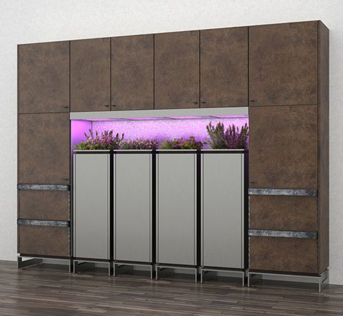 Toyo Kitchens Planter Pots << more fantastic indoor growing and its the way of the future - although I imagine some of my neighbours would use it to grow marijuana, not that that is a bad thing