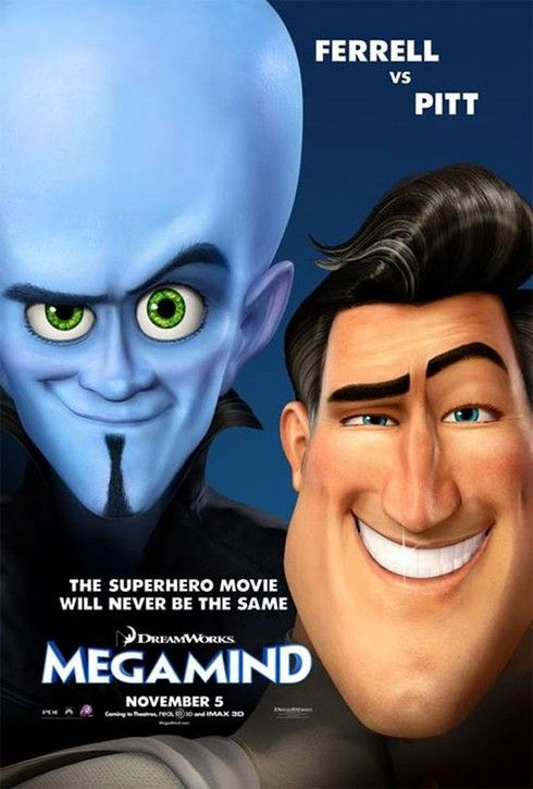 New Megamind Poster Uses The DreamWorks Face... Again