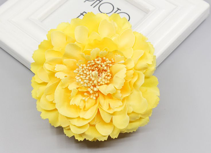 Free shipping! 4 colors multi color big sunflower Blooming Fabric Flower Brooch Hair Clip Boutique Hair Accessories