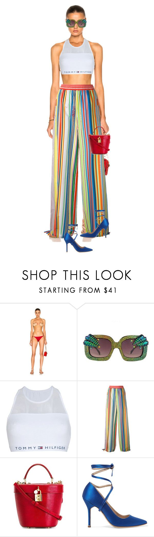 """""""Untitled #401"""" by fashionmahlo ❤ liked on Polyvore featuring ADRIANA DEGREAS, Tommy Hilfiger, Ports 1961, Dolce&Gabbana and Vetements"""