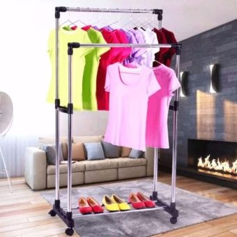 Buy High Quality DIY Double Pole Stainless Steel Clothes Rack online at Lazada. Discount prices and promotional sale on all. Free Shipping.