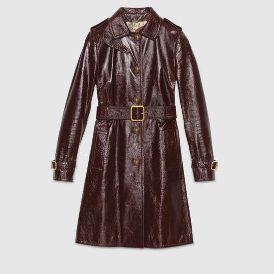 Gucci Light patent leather trench coat