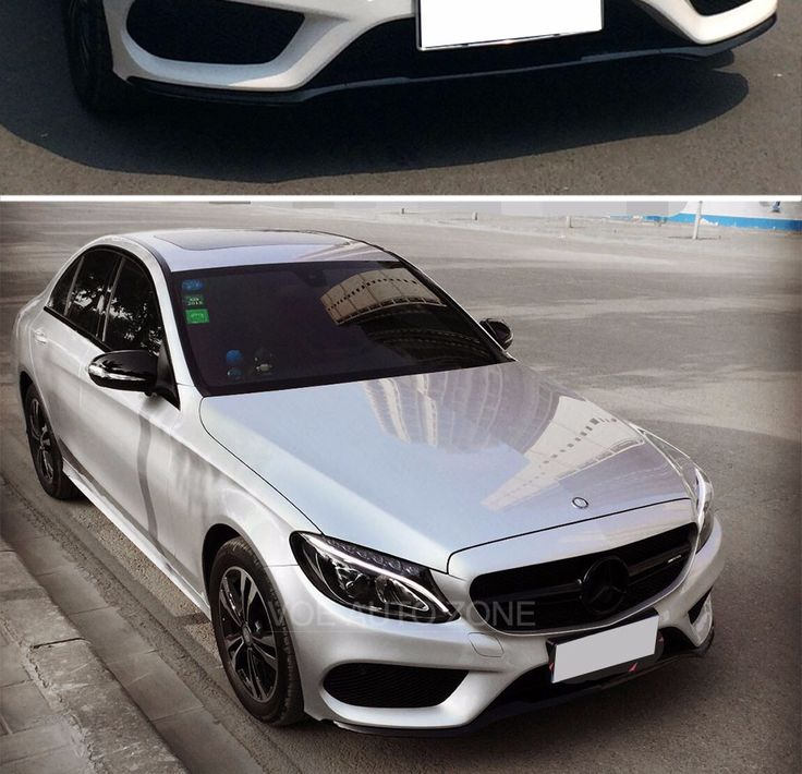 2015 2016 W205 Change to AMG Style With AMG Logo Black ...