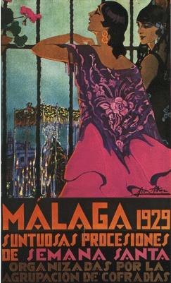 By Manuel León Astruc, 1 9 2 9, Málaga (semana santa).