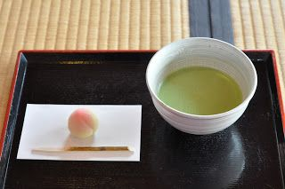 Which would you pick up first: the cup of matcha #tea or the accompanying #wagashi sweet? #gourmettrails #japan