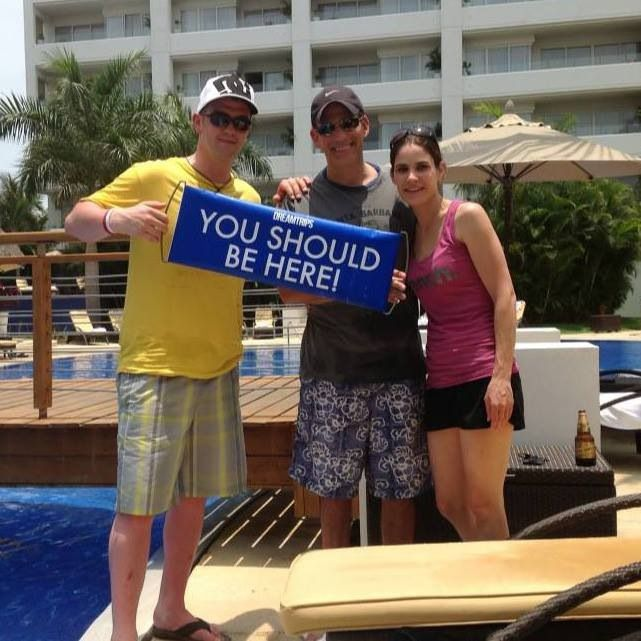 Hangin tough with our buddy Marc poolside at the Marival Residencies, Nuevo Vallarta Mexico