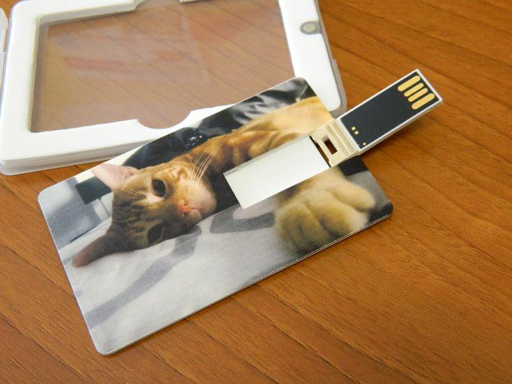 Tarjeta USB personalizada con la foto que más te guste y prefieras llevar cerca.