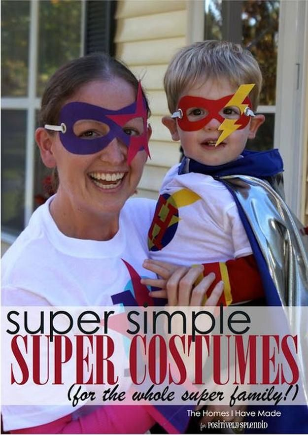 Easy DIY Family Superhero Costume other DIY superhero costume ideas, see more at http://diyready.com/diy-superhero-costume-ideas