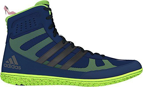 Assistant Mat Adidas Wrestling Chaussures Navy / argent / vert lime Taille 5.5 - Chaussures adidas (*Partner-Link)