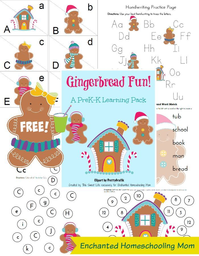 Gingerbread Learning Pack | Gingerbread, Gingerbread man and Activities