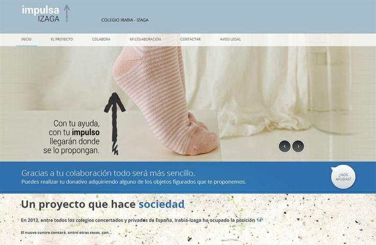 Proyecto tienda online Impulsa Izaga, destinada a donaciones solidarias para el colegio Izaga, del centro Irabia-Izaga, Pamplona - Calle Mayor Comunicación y Publicidad