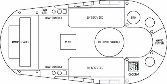 "Airstream Basecamp floorplan. 16'2"" long. | A i r s t r e ..."
