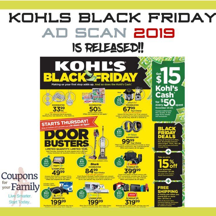 Kohls black friday ad 2019 doorbusters live online now