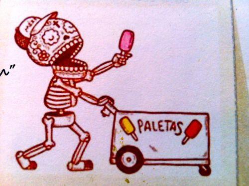 paletas: Art Work, Calavera Mexicana, Of The, Ice Cream, Restaurant, Day, Embroidery Art, Icecream, Cream Shops Bakery Caf