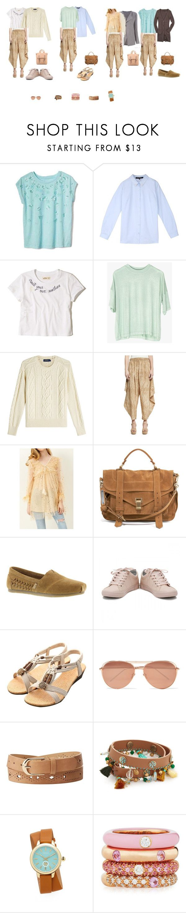 летняя капсула комплект 1 by anna-tsareva-1 on Polyvore featuring мода, Polo Ralph Lauren, storets, Hollister Co., Halston Heritage, BOBS from Skechers, Proenza Schouler, Tory Burch, Adolfo Courrier and Charlotte Russe