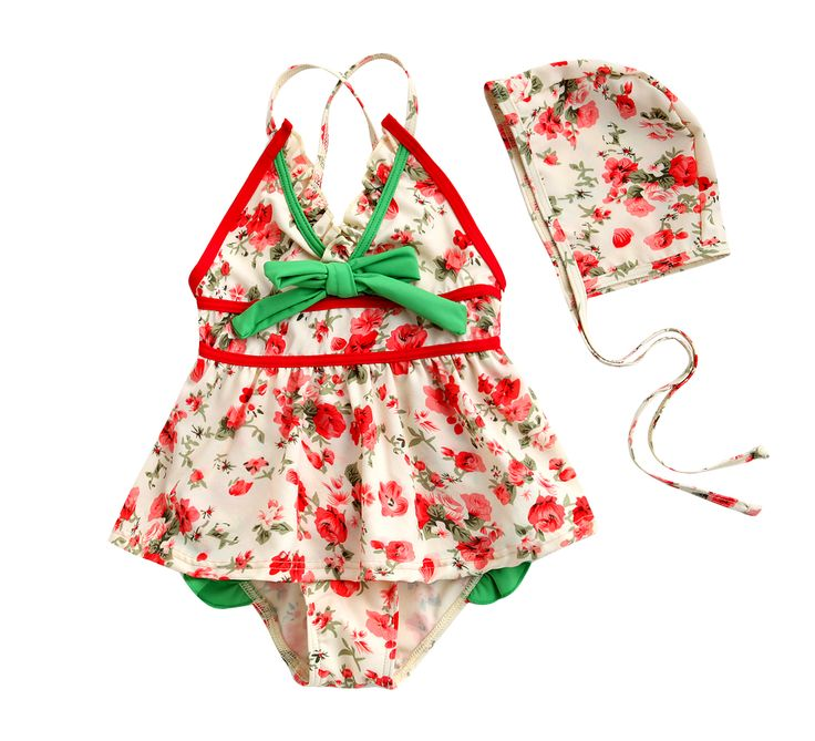 Adorable Vintage inspired Baby girl swim suit . Retro stylish swimsuit for your little girl, comes with adjustable straps  for a comfy fit.   fabric & care •Made of 80% nylon, 20% spandex.  •Machine wash. •Treated for excellent UV protection •Sweetheart neckline with cinched yoke •Tie...