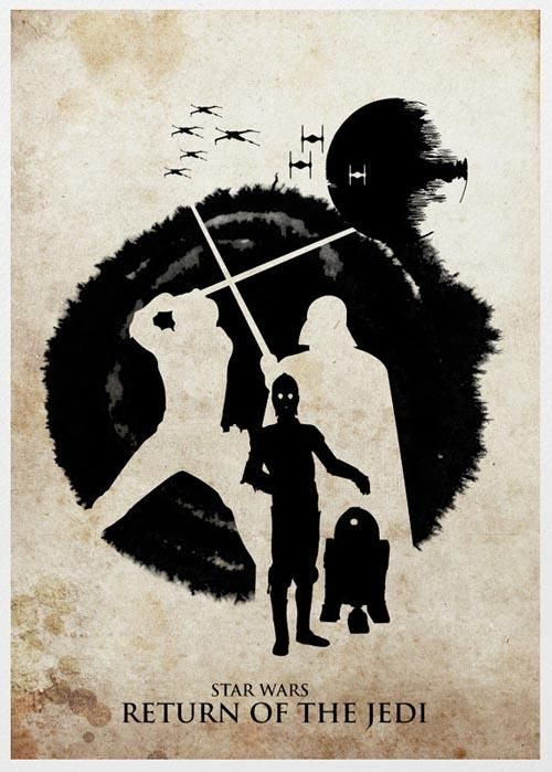 The Silhouette Styled Star Wars Trilogy Poster