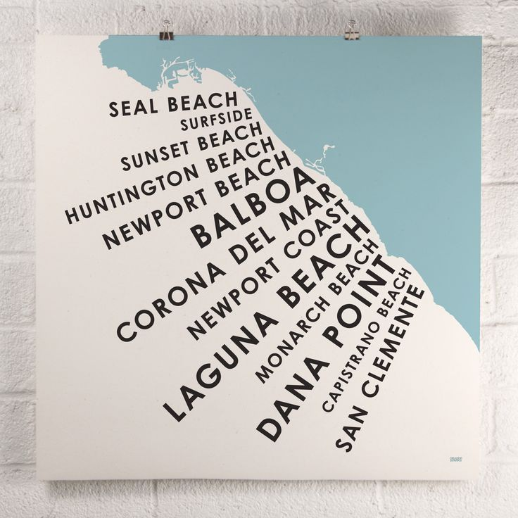 Orange County Beach Towns print