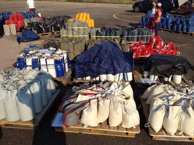 FLYGAS Sandbags filled!