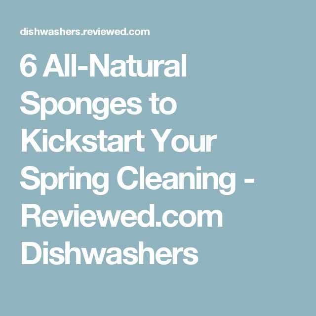 6 All-Natural Sponges to Kickstart Your Spring Cleaning - Reviewed.com Dishwashers