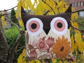 Sy uglepute / Tutorial owl pillow
