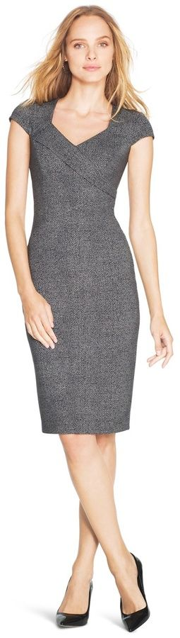 gray dress women fashion outfit clothing style apparel @roressclothes closet ideas
