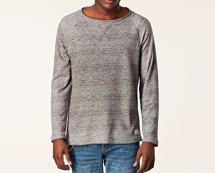Grey Men's Crew Neck Knit