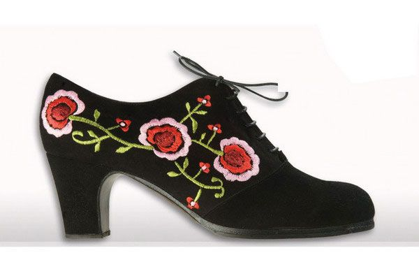 embroidered flamenco shoes