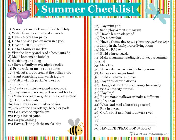 50 FUN things to do this summer! Printable Summer Checklist included {2015}. Soooo many easy and inexpensive activities!