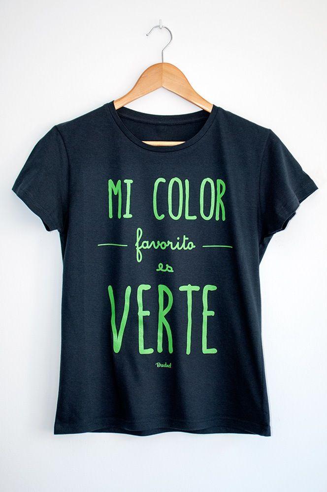 Camiseta Mi Color Favorito es Verte   Mujer