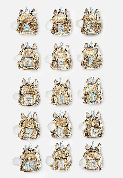 464b0b7465c Unicorn Initial Flip Sequin Mini Backpack   Justice   Justice new do ...