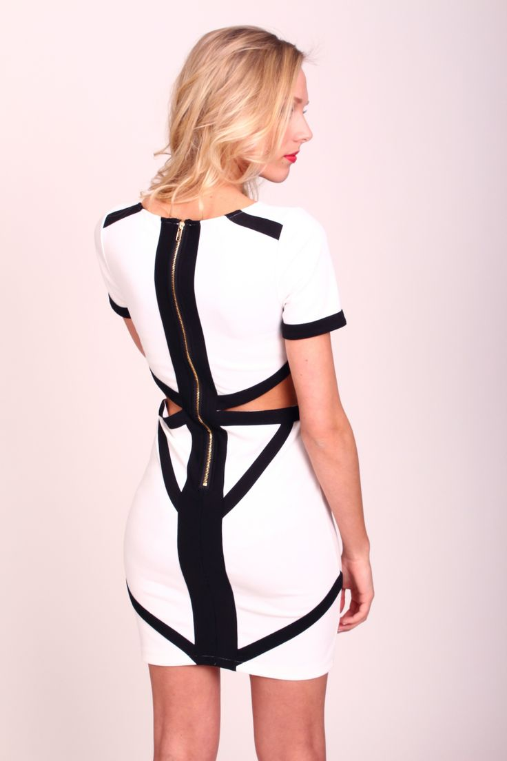 Black and White remains a winner for SS2014.  We only have one left in stock of this stunning Cut Out Dress