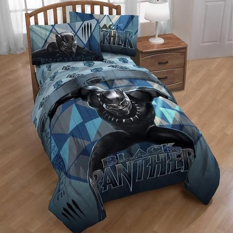 Kids Complete Marvel Black Panther Twin Size Bedding Comforter Set