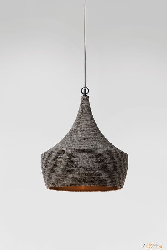 Kare Design Sisal Hanglamp Grijs Ø42cm - De Kare Design Sisal is een ...