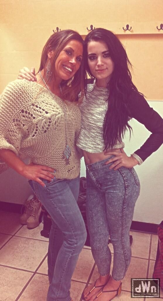 Mickie James and NXT Women's Champion Paige | Daily Wrestling ...