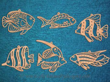 SLDK319 - тропические рыбы украшения Филигрань