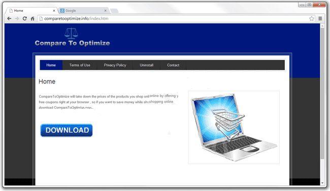 CompareToOptimize pop-up ads est une infection d'adware dangereux qui attaque tous les types de navigateurs web