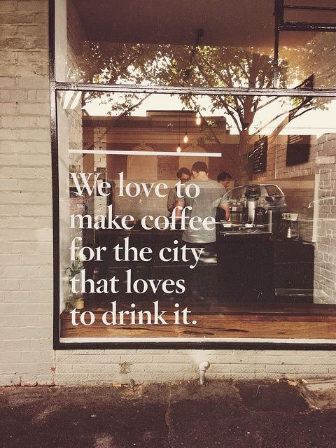 Market Coffee Shop in Australia - love this!