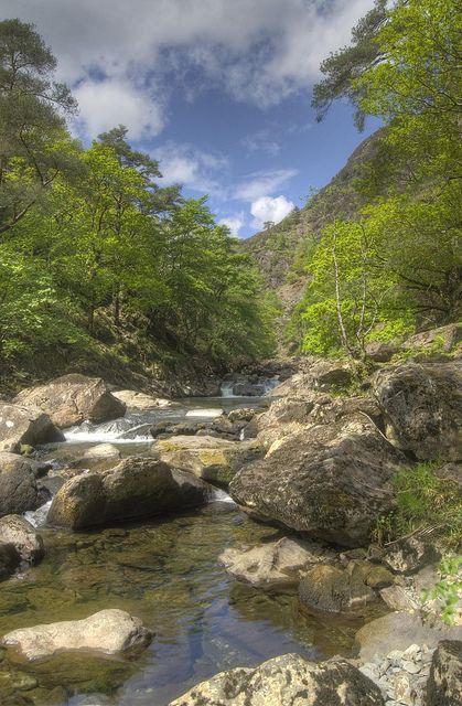 The Aberglaslyn Pass near Beddgelert, Wales